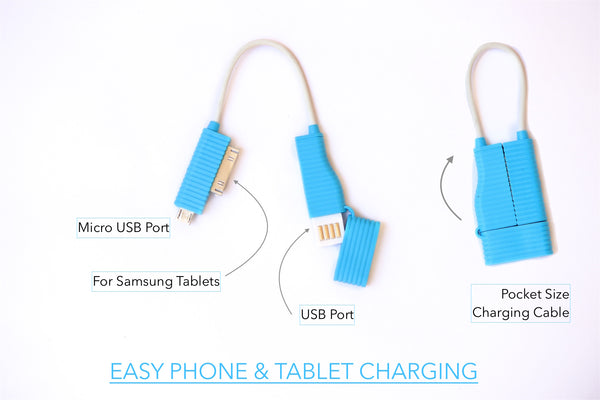 Pocket Size Charging Cable for Samsung Phones and Tablets