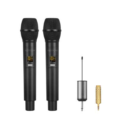2 UHF Wireless Microphone for Dance Show Choreographers