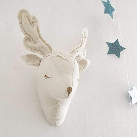 Baby Room Decoration Deer Plush Toy Wall Trophy Decor