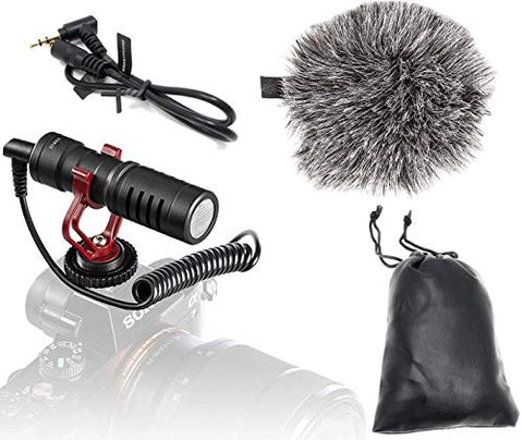 Shotgun Microphone for Youtubers with Deadcat – Cardioid - Cold Shoe Mount