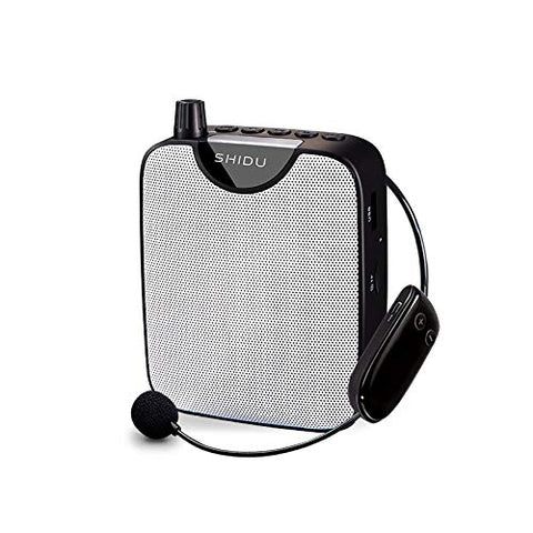 NEFFICAR Classroom Voice Amplifier for Teachers with Mic – Portable PA System – Wireless Mike with Speaker – 10 W (Wireless)