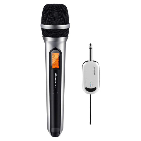 Wireless Microphone System UHF Dynamic Handheld Mic for iPhone, Computer, Karaoke