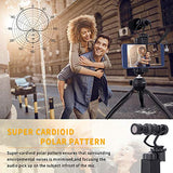 Smartphone Video Kit - Mini Tripod with Shotgun Video Microphone Rig for iPhone X 8Plus