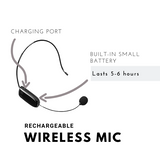 Wireless Mic Replacement for Nefficar Wireless Voice Amplifier - N511-UHF Microphone