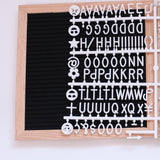 Wooden Framed Felt Letter Board with 128 Letters & Numbers (Wall Mount) - 10 x 10 Inch