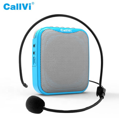 Wireless Portable Mini Voice Amplifier with Headset Microphone - 15W - Black Color