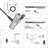Lavalier Lapel Microphone for DSLR - Metal Shell - 3.5mm Jack - Condenser Microphone for Interviews Recording
