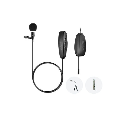 Wireless Lavalier Mic for Youtubers, Reporters, Interviews - for DSLR & Smartphones - WM01