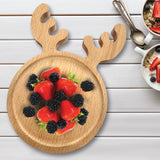 Nordic Baby Food Feeding Wooden Plate Tray Bowl