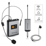 Nefficar UHF Wireless Microphone System with Receiver Transmitter Bodypack