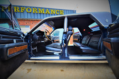 1969 Lincoln Continental interior at Rotary Performance Garland, Texas