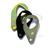 Trio picture of all three colors version of the Rotary Performance rotor style rear engine lift hook for the 1993-01 Mazda RX-7 13B-REW