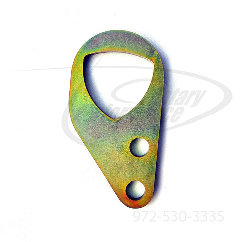 Gold version of the Rotary Performance rotor style rear engine lift hook for the 1993-01 Mazda RX-7 13B-REW