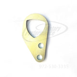 Silver version of the Rotary Performance rotor style rear engine lift hook for the 1993-01 Mazda RX-7 13B-REW
