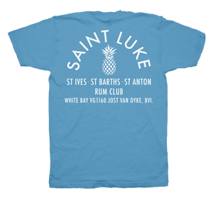 Saint Luke Rum Club T-Shirt in Bleached Out Blue