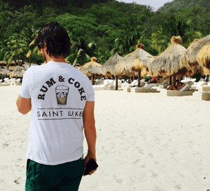 Saint Luke Rum & Coke T-Shirt in White