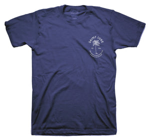 Saint Luke Palm Plantation Co. T-Shirt in Navy