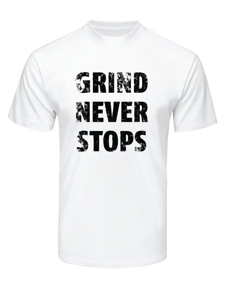 Grind Never Stops Tee (White)