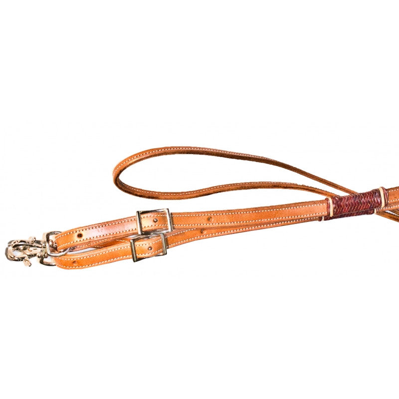 Buffalo Leather of the Rockies Roping Reins with Rawhide Accents & Scissor Snaps