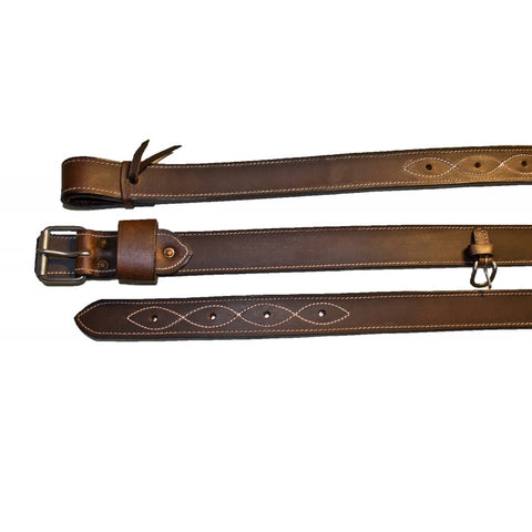 Buffalo Leather Heavy Duty Back Cinch with Flank Billets