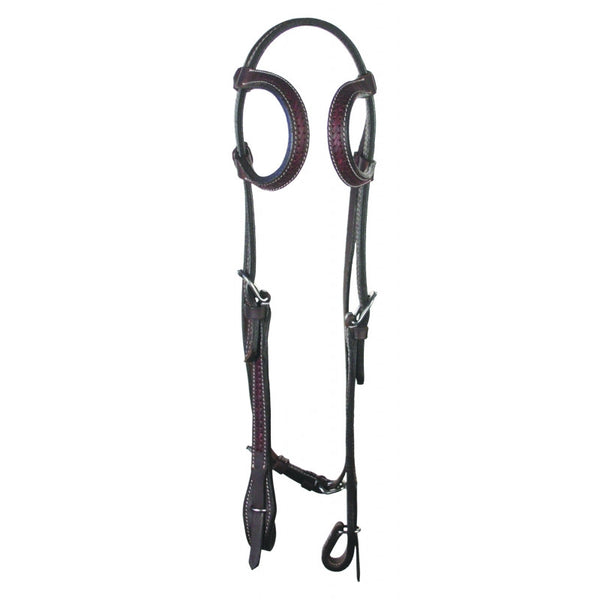 Buffalo Leather Rawhide Laced Double Ear Headstall