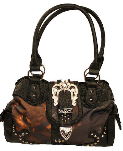 Camo & Buckle Bling HandBag