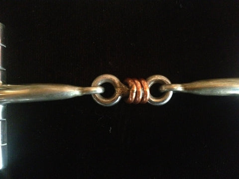 Handmade Sliester Bit D-Ring with Copper & Dog Bone