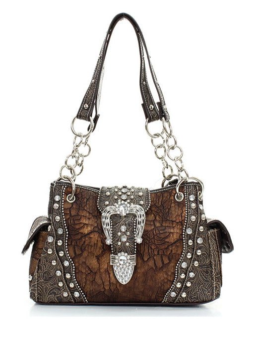 Bling Western Handbag with Crystals