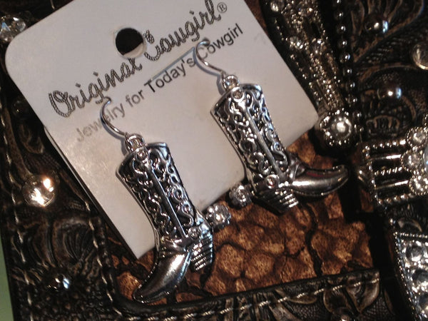 Cowboy Boot Dangle Earrings