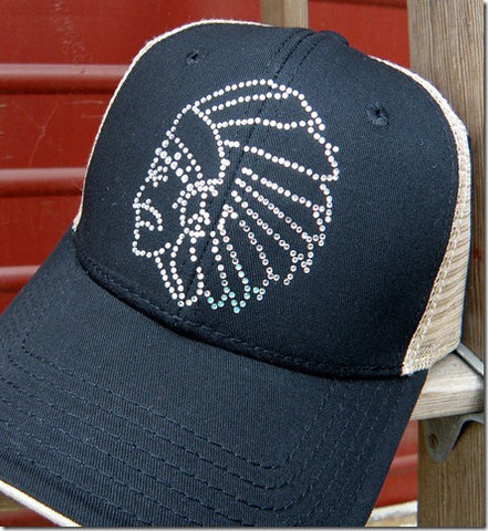 Original Cowgirl Co. Rhinestone Chief Trucker Cap