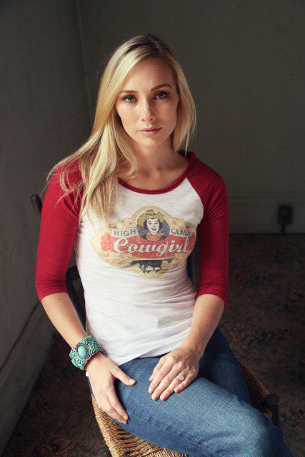High Class Cowgirl Burnout T-Shirt