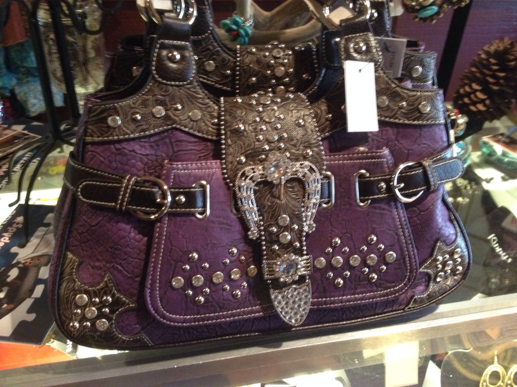 Purple Western Bling Handbag