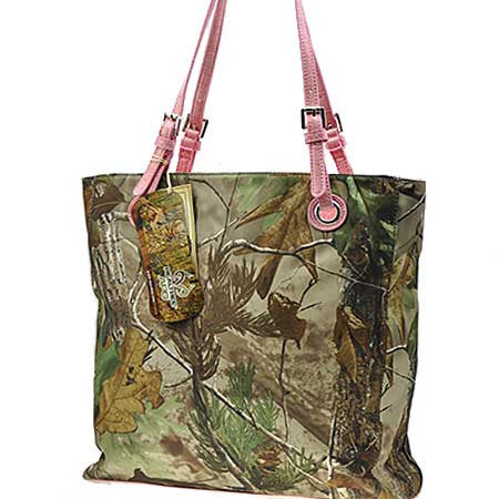 Licensed RealTree Camo & Pink Tote Handbag