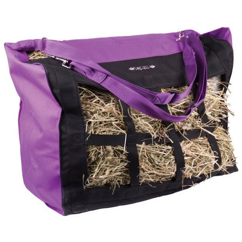 Skull & Roses Purple Top Load Hay Bag