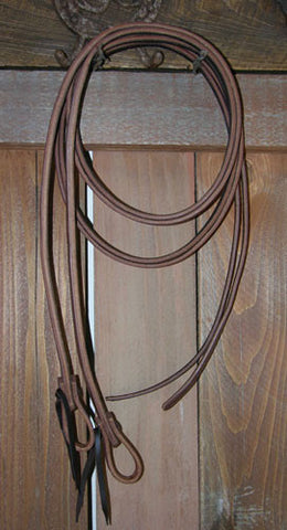 7' Split Reins Weighted at the Bit End