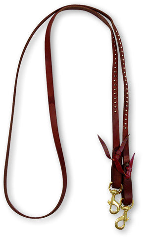 Chocolate Harness Leather Roping Reins by Martin Saddlery