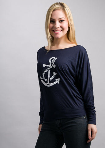 Navy Dolman White Anchor