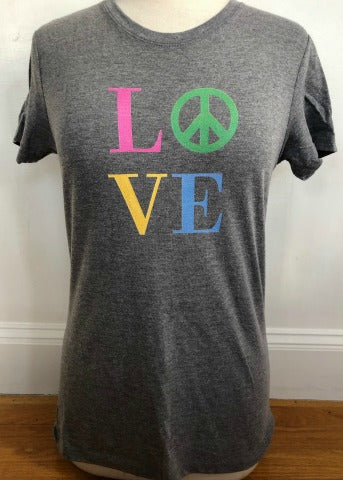 Grey Crew Short Sleeve LOVE