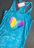Turquoise Tank LOVE and HOPE