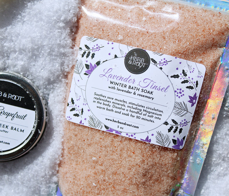 Lavender Tinsel Winter Bath Soak