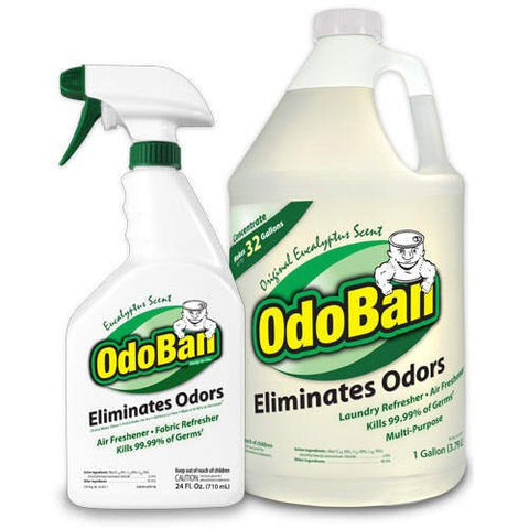 OdoBan Odor Eliminator RTU, 1qt Spray Bottle, W1 Gallon Concentrate, Original Eucalyptus Scent