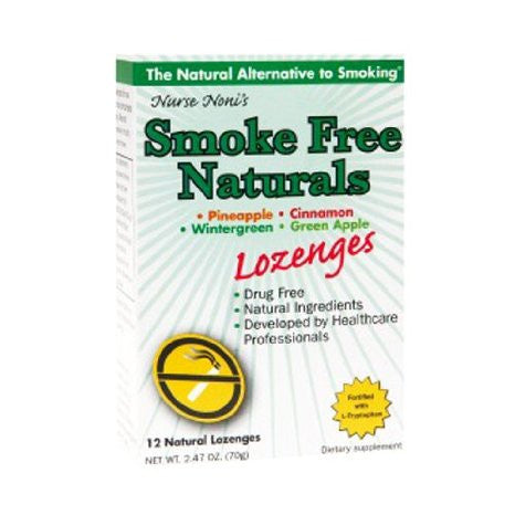 Three Lollies Smoke Free, Natural Lozenges, 12 Count