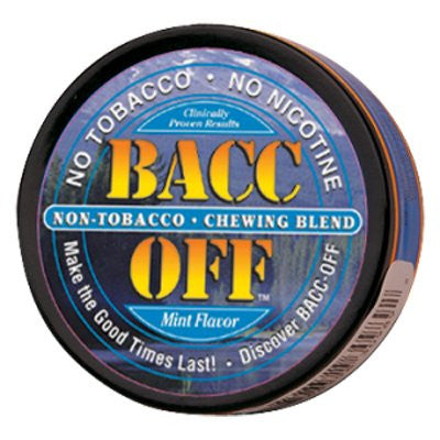 Bacc Off Original Smokeless Tobacco Substitute - Mint - 5 Cans