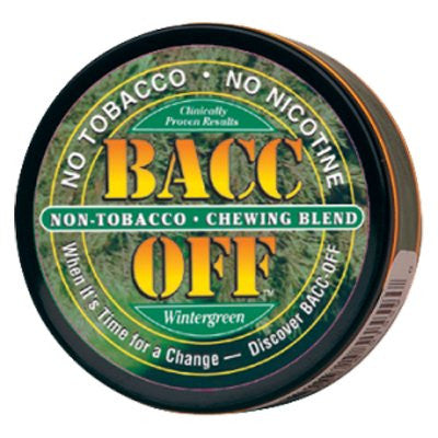 Bacc Off Original Smokeless Tobacco Substitute - Wintergreen - 5 cans