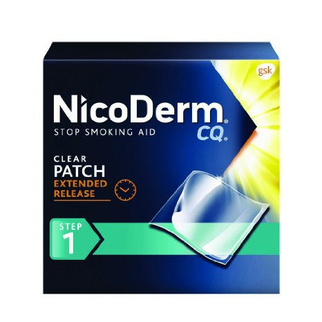 NicoDerm CQ Clear Nicotine Patch 21 milligram (Step 1) Stop Smoking Aid - 14 Count