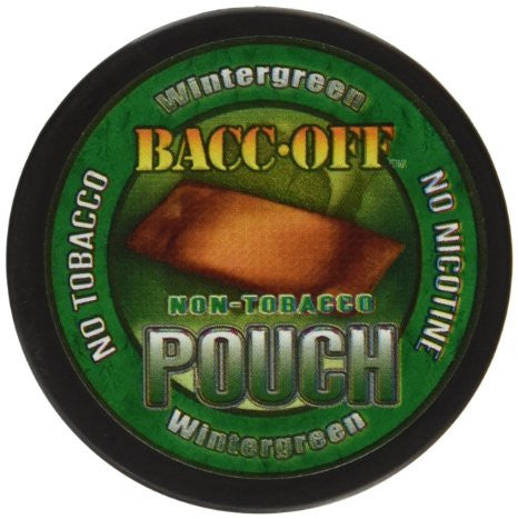 Bacc Off Pouches - Smokeless Tobacco Substitute - Wintergreen - 5 Cans