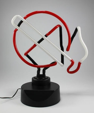 Neon No Smoking Sign - Red/Blue/White