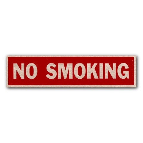 Brushed Aluminum - No Smoking - 2x8