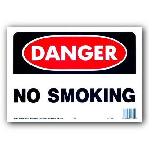 Danger No Smoking 10x14 OSHA Sign 515