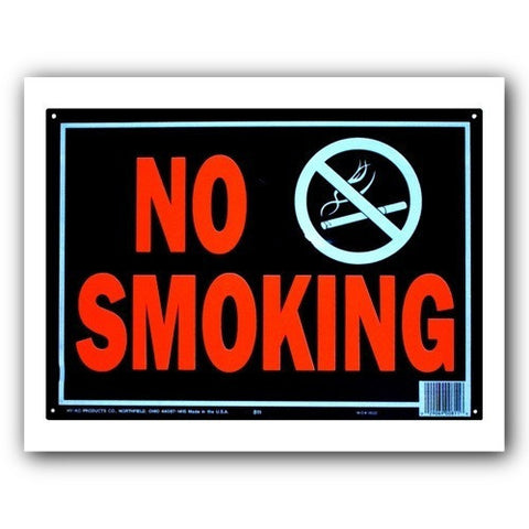 Hy-Glo Aluminum - Prepunched - No Smoking - 10x14